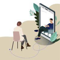 Remote mental consultation at psychologist